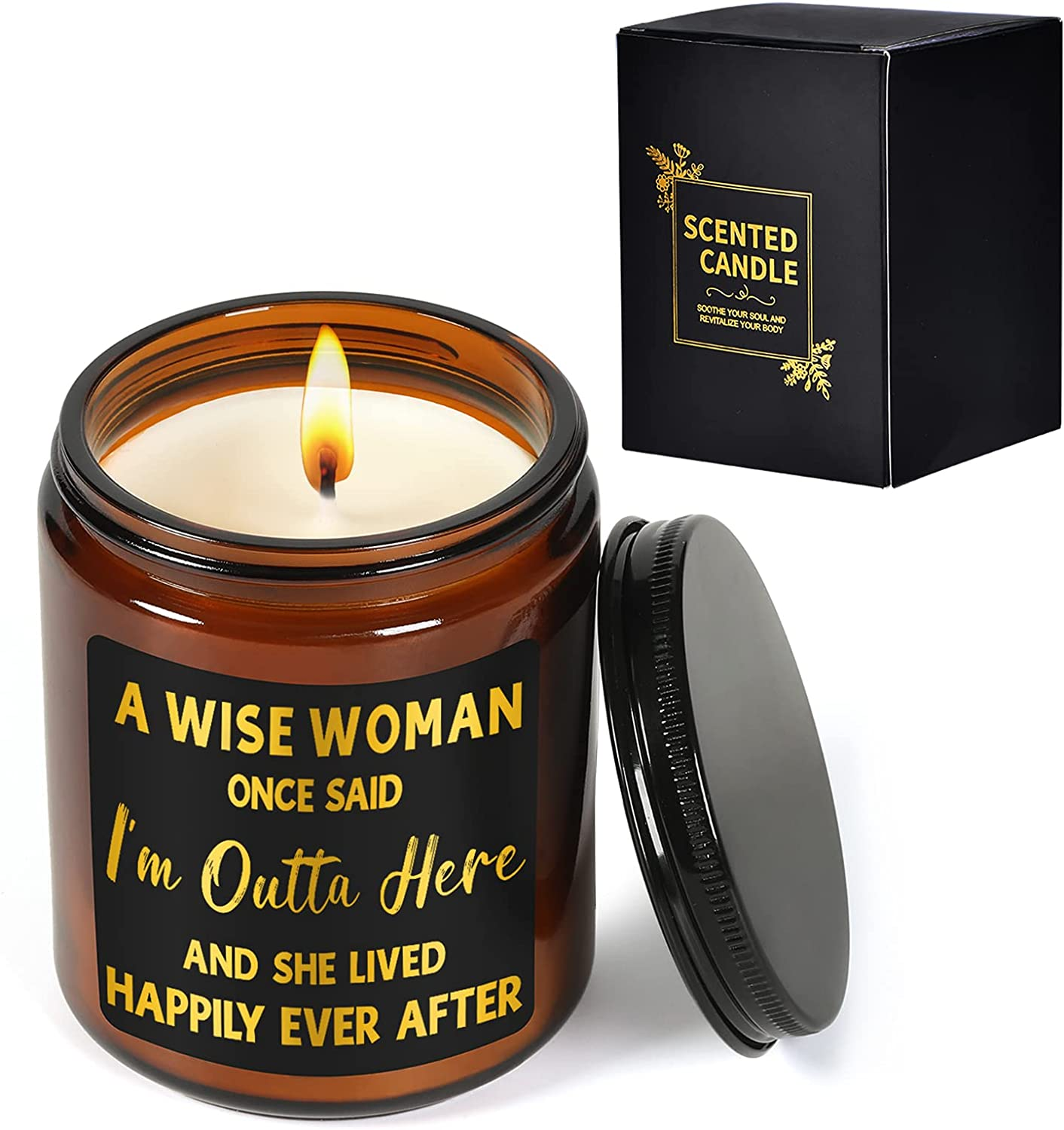 Retirement Gifts for Women 2021 - Female Retirement Gifts - Retired Gifts for Women - Coworker Leaving Gifts, Farewell Gifts, Goodbye Gift for Women, Coworkers, Friends - Lavender Scented Candles