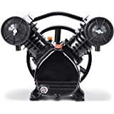 Goplus 3HP 2 Piston V Style Twin Cylinder Air Compressor Head Pump (Black)
