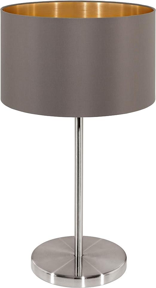 Eglo Lámpara de Mesa E27, marrón: Amazon.es: Iluminación