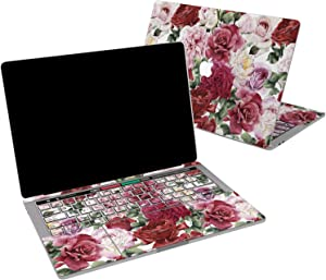 Lex Altern Vinyl Skin for MacBook Air 13 inch Mac Pro 16 15 Retina 12 11 2020 2019 2018 2017 Beautiful Flowers Nature Aesthetic Roses Red Bloom Cover Keyboard Decal Sticker Touch Bar Laptop Women