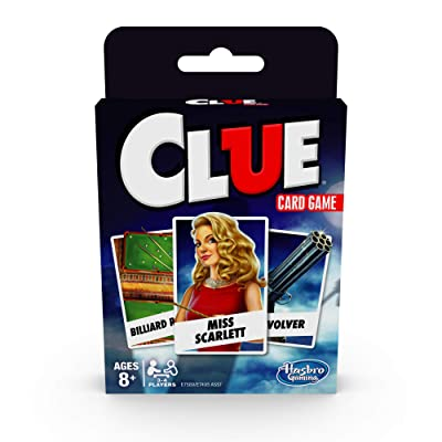 Hasbro Gaming Clue Card Game for Kids Ages 8 & Up, 3-4 Players Strategy Game: Toys & Games