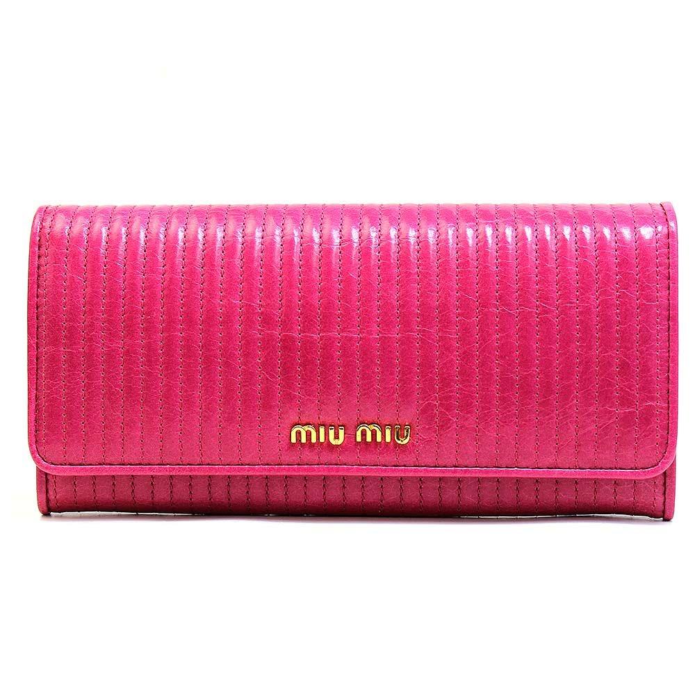 (ミュウミュウ)MIUMIU 財布 レザー 長財布 miumiu レディース アウトレット [ブランド][アウトレット品]5m1109-vite-peonia [並行輸入品] B00O8HXU5S