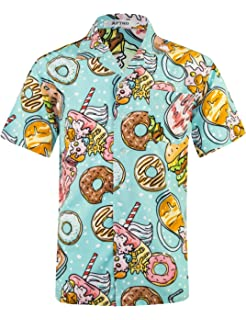 32f3c69b2 Men's Hawaiian Shirt 4 Way Stretch Short Sleeve Button Down Beach Aloha  Shirts