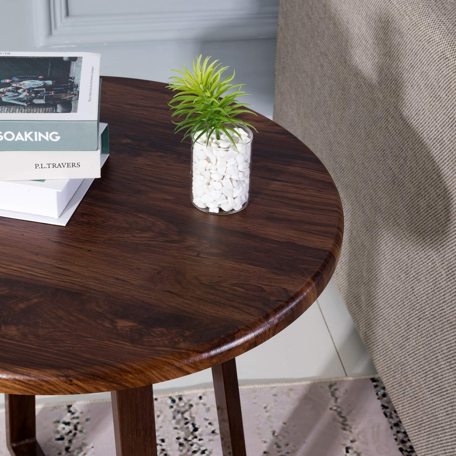Height Of Coffee Table To Sofa: Walnut Living Room Office Coffee Table Side Sofa End Lamp