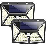 センサーライト 屋外 ソーラーライト 98LEDライト 4面発光 2個セット 3つモード 人感センサー 防犯ライト 300°照明範囲 夜間自動点灯 ガーデンライト IP65防水 屋外照明 省エネ 玄関 庭 駐車場