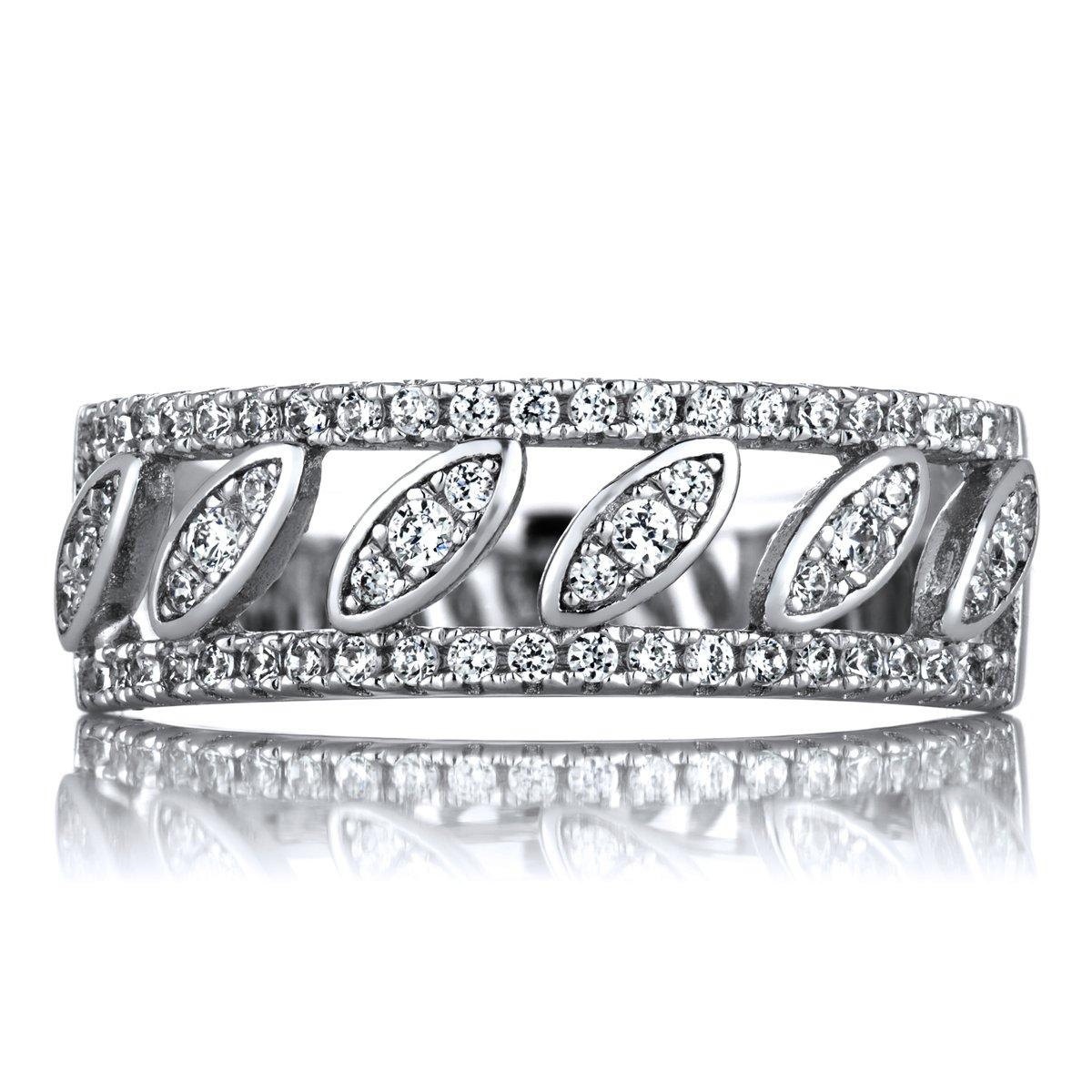 Patrice's 7mm CZ Art Deco Style Anniversary Ring
