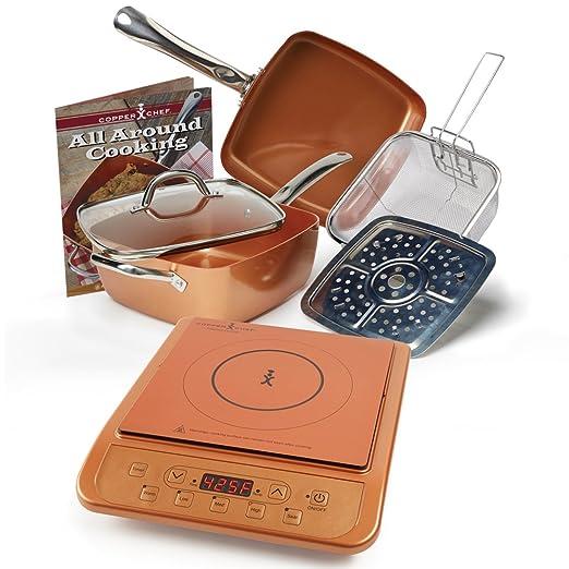 Amazon.com: Copper Chef Juego de 6 sartenes profundas, de ...