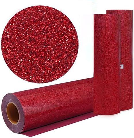 hoho] rojo color con purpurina transferencia de calor de vinilo película calor prensa corte Plotter de Corte por DIY camiseta 50cm*300cm / 20*118 inches rosso: Amazon.es: Hogar