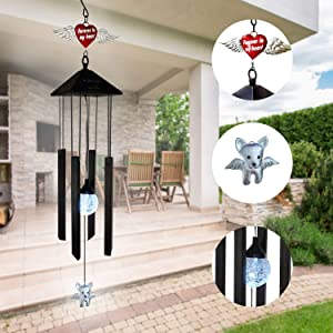 Dog Wind Chimes for Loss of Dog - Dog Memorial Gifts - Remembrance Gift for Dog Owners Whose Pet has Crossed The Rainbow Bridge - Perfect Complement for Dog Urn or Memorial Stone