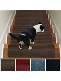Stair Treads Nonslip Carpet Indoor Set Of 13 Brown Carpet Stair Tread  Treads Stair