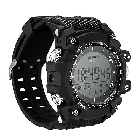 OMORC Relojes Inteligentes Deportivos, Smartwatch Impermeable IP68 Fitness Tracker, Notificación de Llamada y Mensaje, 12 Meses de Espera para ...
