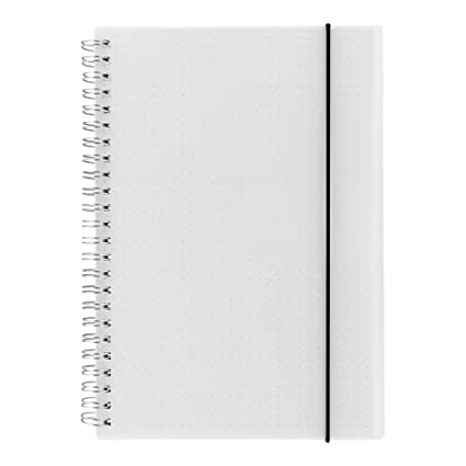 Amazon.com: HULYTRAAT cuaderno cuadrícula de lunares de tapa ...