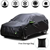 Adakiit Car Cover Waterproof SUV Car Covers All Weather Windproof/Dustproof/Scratch Resistant Outdoor Cover Car Sun Rain Snow Dirt Cover for SUV up to 191'' Long