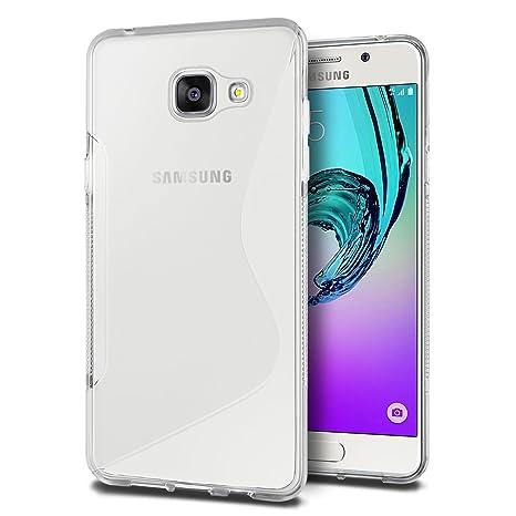 SLEO Funda para Samsung Galaxy A3 2016 Cover, Slim Fit TPU Carcasa de Parachoques Case Traslúcido Suave con Absorción de Impactos y Resistente a los ...