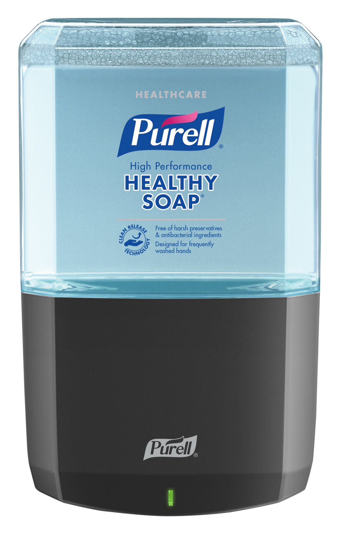 PURELL Healthcare HEALTHY SOAP High Performance Foam, Fragrance Free, ES6 Starter Kit, 1 - 1200 mL EcoLogo Certified Soap Refill + 1 -  ES6 Graphite Touch-Free Dispenser - 6485-1G