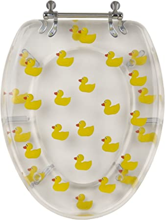 Unbranded 900e Yellow Ducks Toilet Seat Clear Amazon Com
