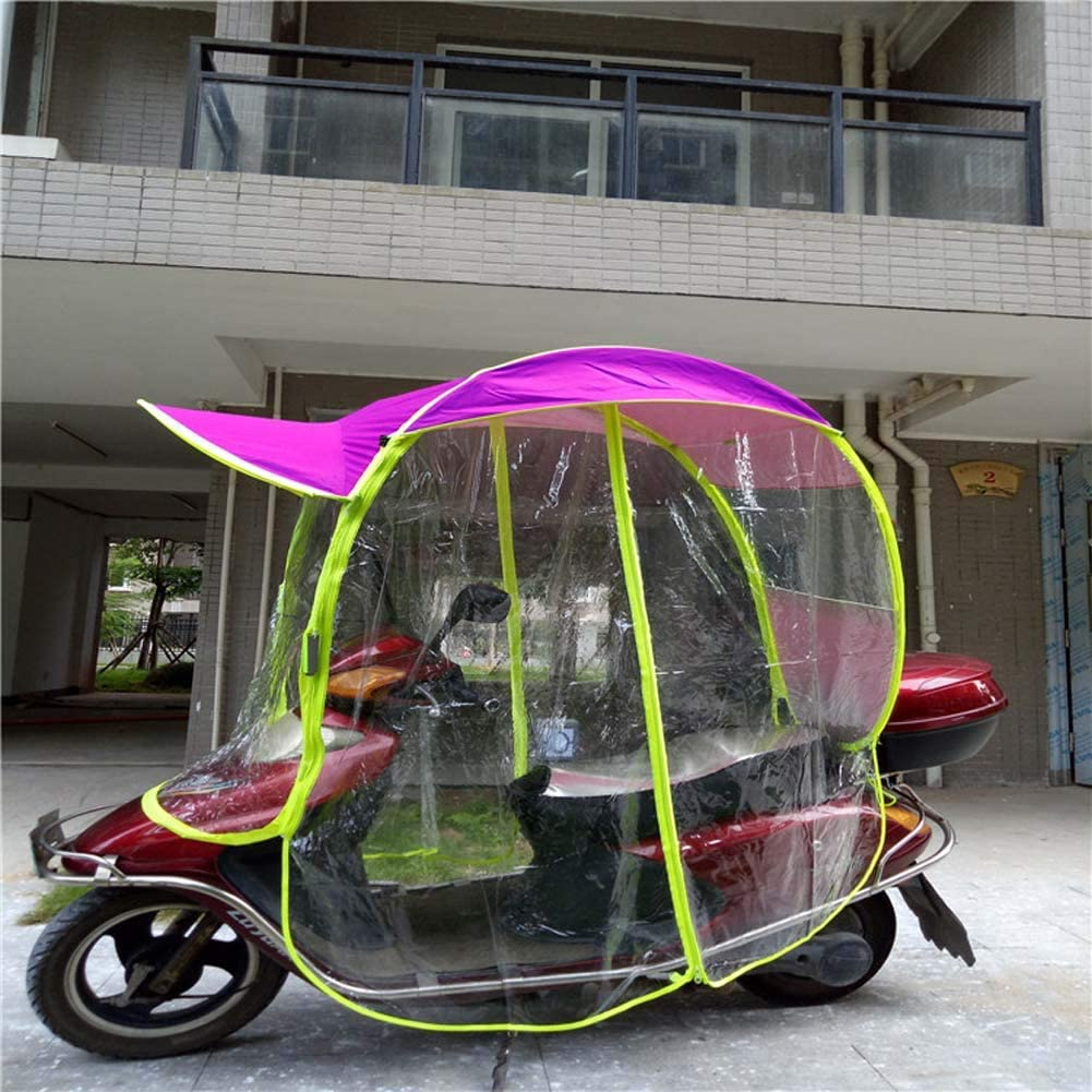 Scooter Rain Waterproof Cover Battery Car Canopy Umbrella Cover Rziioo  Universal Electric Motorcycle Sunshade Cover