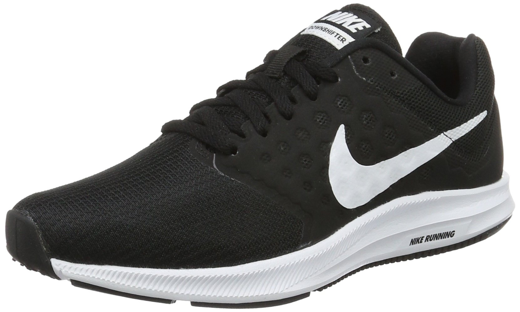 Nike Women's Downshifter 7 Running Shoe Black/White Size 8.5 M US by Nike