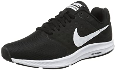 d1a8e18d3bce Nike 852466-010  Women s Nike Downshifter 7 Black White Running Sneakers (5  (