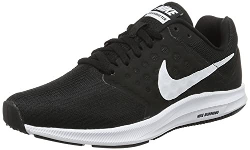 Nike 852466-010  Women s Nike Downshifter 7 Black White Running Sneakers (5  ( 559a3387aa