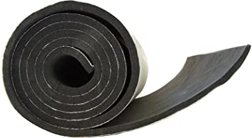 """NEOPRENE RUBBER SHEET STRIP 1//8/""""thick X 1/""""wide X 10/' PSA ADHESIVE ONE SIDE"""