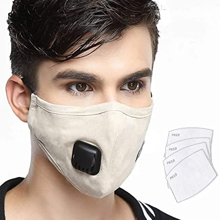Replaceable one Lyanty Pollution Mask -beige Filter Filters With Masks Anti Military 4 N99 Cotton Grade Washable Mouth Valve