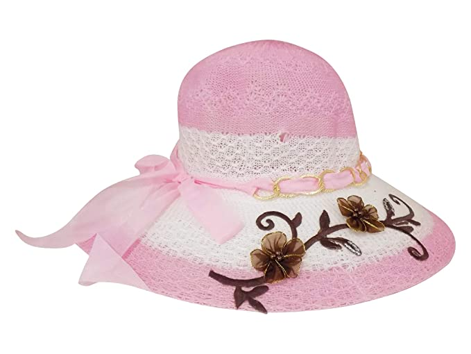 BRAND NEW LIGHT AND AIRY SUMMER HAT//CAP//BONNET FOR GIRL//BABY//TODDLER WITH FLOWER