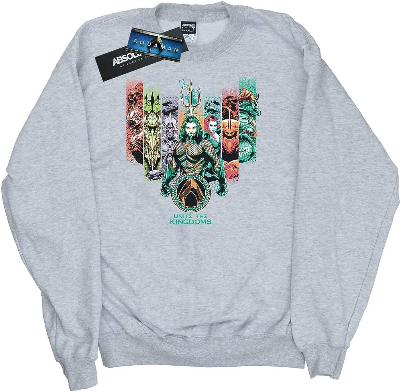 DC Comics Girls Aquaman Unite The Kingdoms Sweatshirt