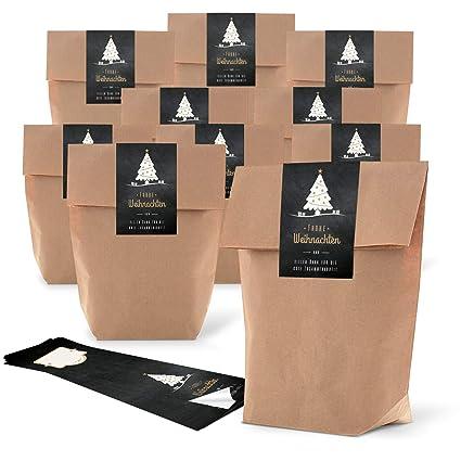 25 pequeñas bolsas de papel marrón 19 x 29,5 x 7,5 cm + 25