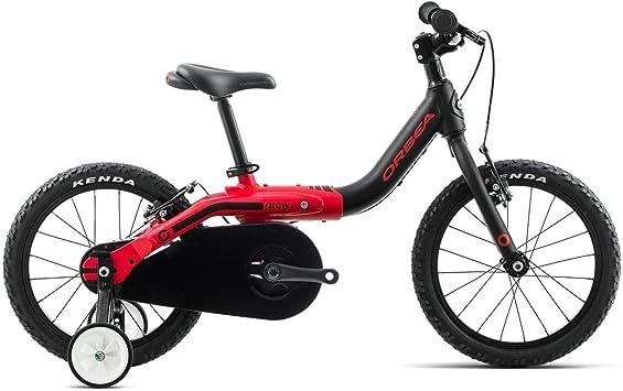Orbea Grow 1 Niños Bicicleta 16 pulgadas Bike 1 Gang aluminio bicicleta niño niña niño Kids, i002, color negro rojo, tamaño talla única: Amazon.es: Deportes y aire libre