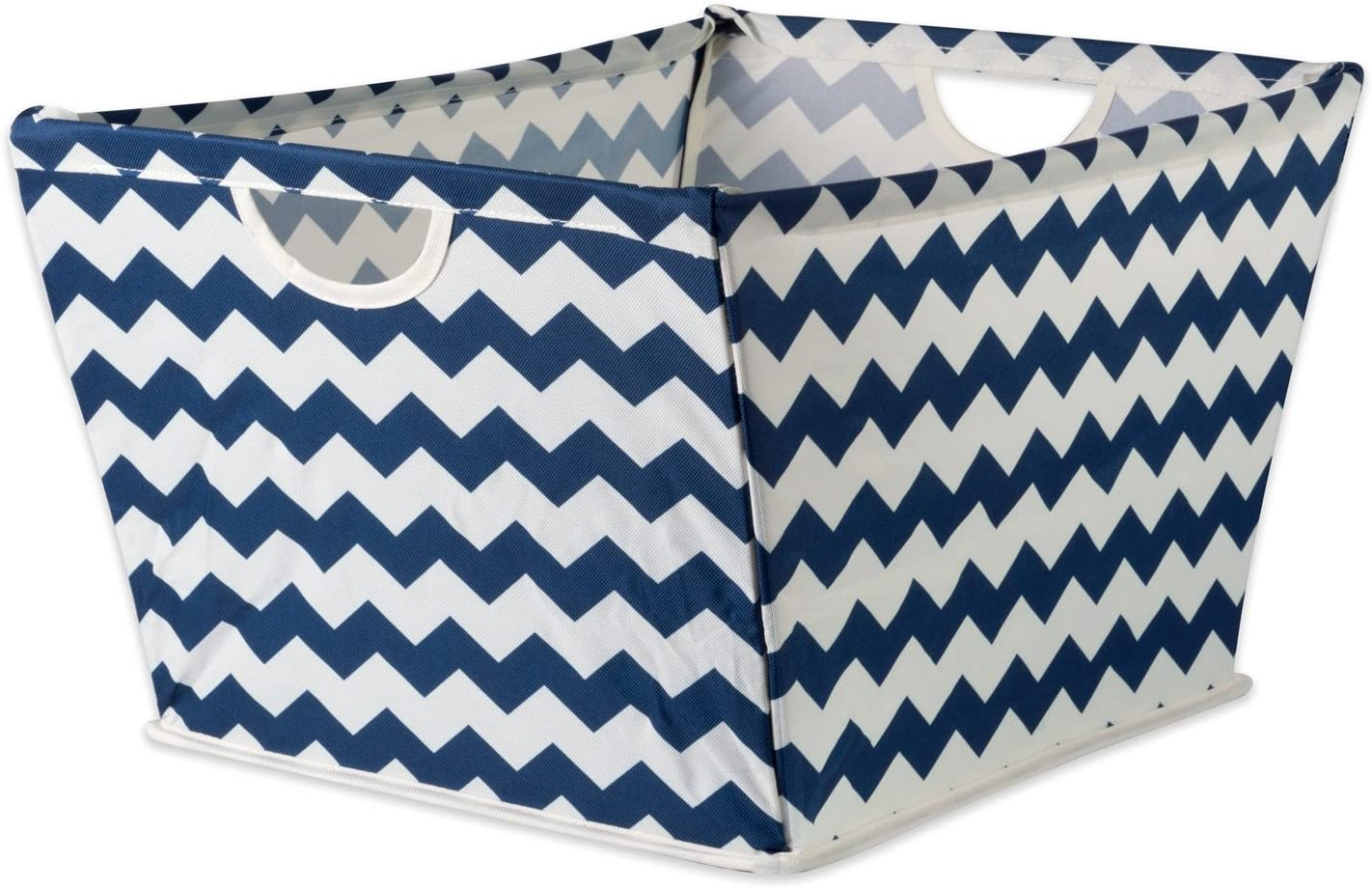 DII Collapsible Polyester Trapezoid Storage Basket, Home Organizational Solution for Office, Bedroom, Closet, & Toys (Medium - 16x12x10