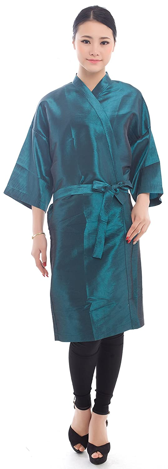 Salon Client Gown Hairdressing Gowns Kimono Style- 43 Long (Blue) Perfe Hair SW017