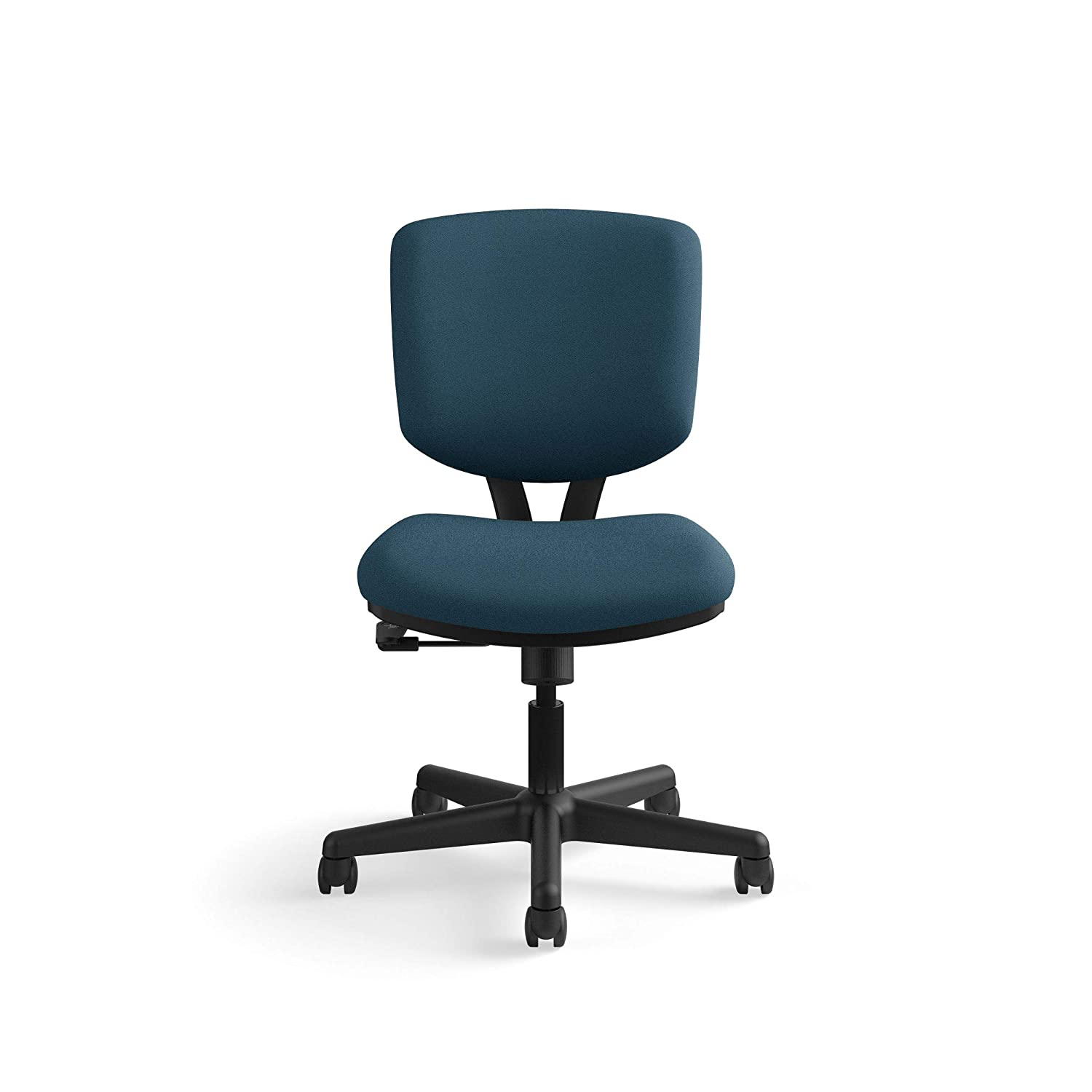 HON H5701.GA90.T Volt Low-Back Task Chair – Upholstered Computer Chair for Office Desk – Navy Fabric H701