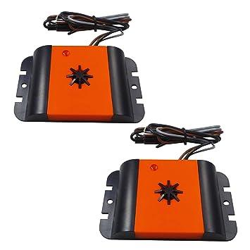 ISOTRONIC Marderschreck Auto Marderscheuche Marderfix 12V Batterie Marderabwehr Marder-Frei Mobil M/äuseschreck Auto KFZ Marderfrei Marderschutz mit Ultraschall Akustik 1