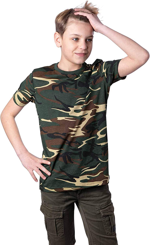 Mivaro Camiseta de Camuflaje para Niños, Camiseta Militar: Amazon.es: Ropa y accesorios
