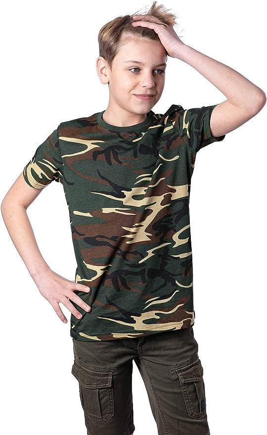 Mivaro Camiseta de Camuflaje para Niños, Camiseta Militar: Amazon ...