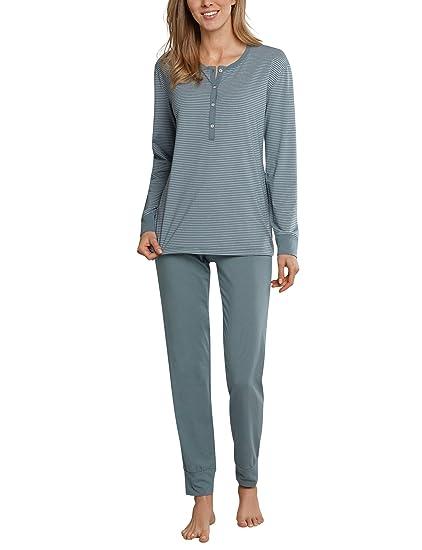 70d909b328 Schiesser Damen Pyjama lang 158621: Amazon.de: Bekleidung
