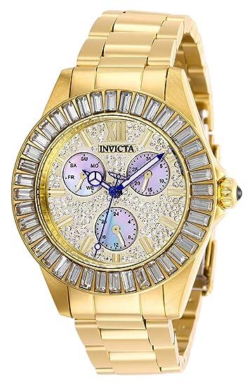 Invicta 28449 Angel Reloj para Mujer acero inoxidable Cuarzo Esfera oro: Amazon.es: Relojes