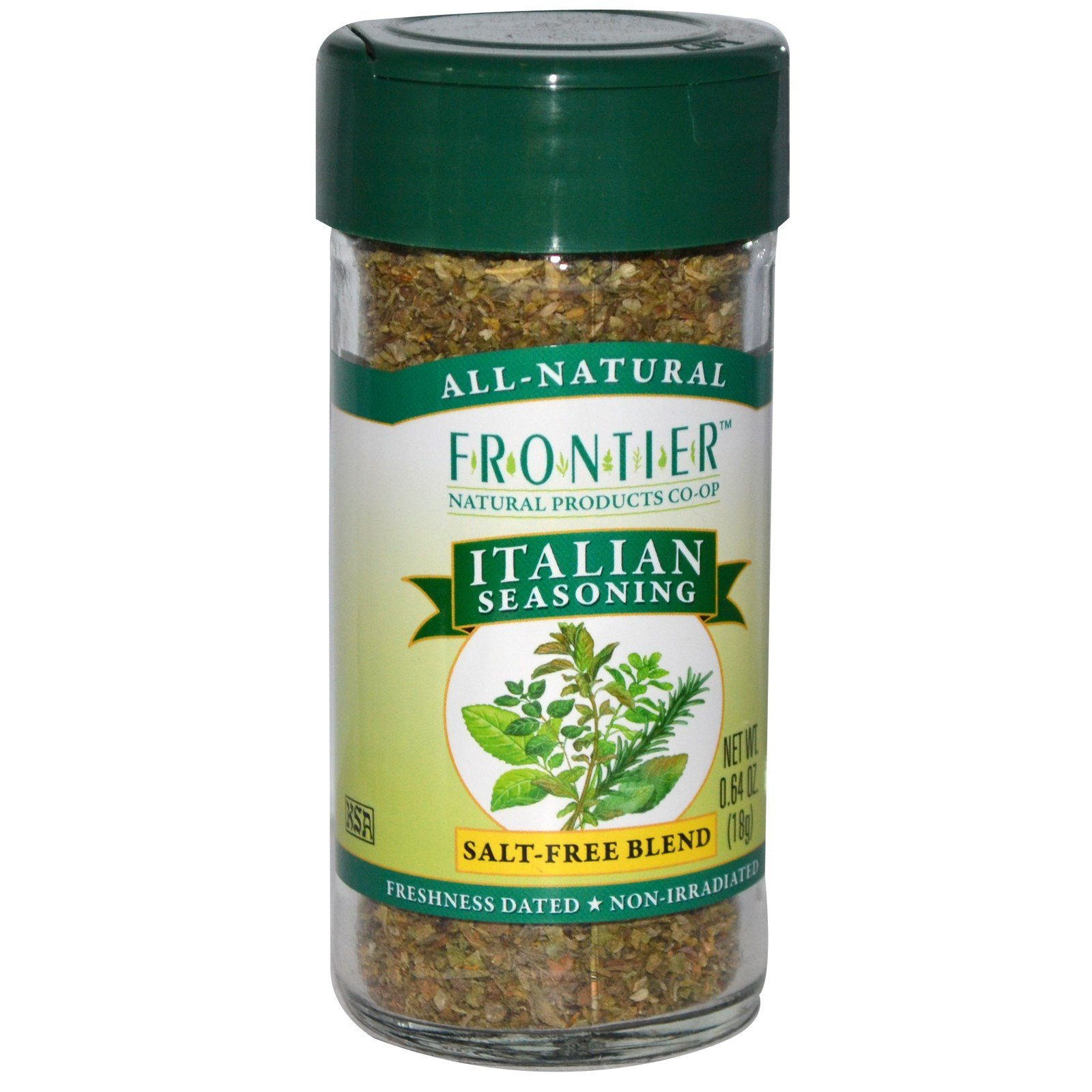 Frontier Natural Products, Italian Seasoning, Salt-Free Blend, 0.64 oz (18 g) - 3PC
