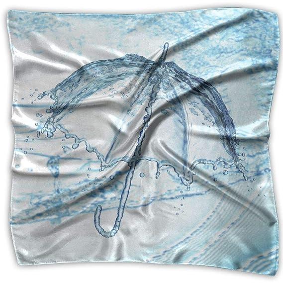 Xukmefat Mujeres dama paraguas de agua de impresión bufanda ...