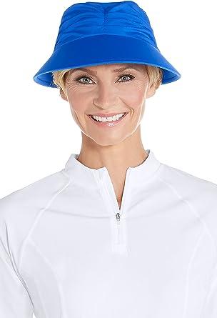 ccc8943d10 Coolibar UPF 50+ Women s Moraine Swim Visor - Sun Protective (Small Medium-