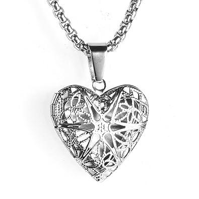 Beydodo Collar Colgante Mujer Colgante Corazón Medallón ...