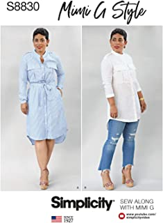 product image for Simplicity Women's Shirt Dress Sewing Patterns by Mimi G Style, Sizes 6-14