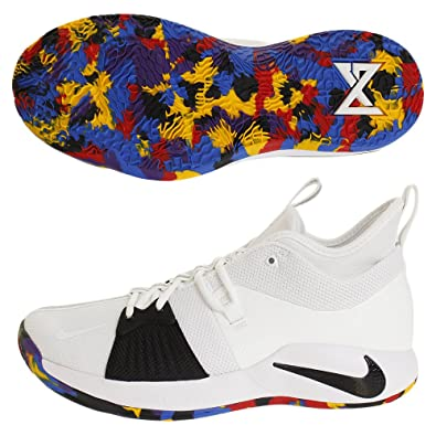 reputable site d3e1c 04b8b Amazon.com | Nike Men's PG 2 TS EP, White/Multi-Color ...