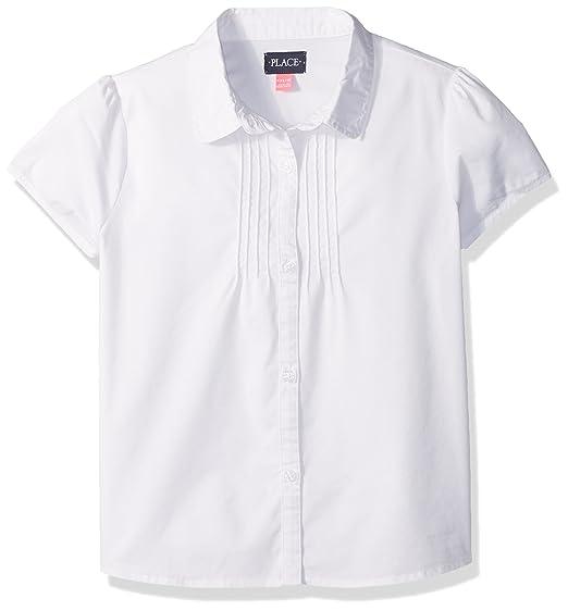 017c9792f3a83 Amazon.com  The Children s Place Girls  Uniform Short Sleeve Blouse ...