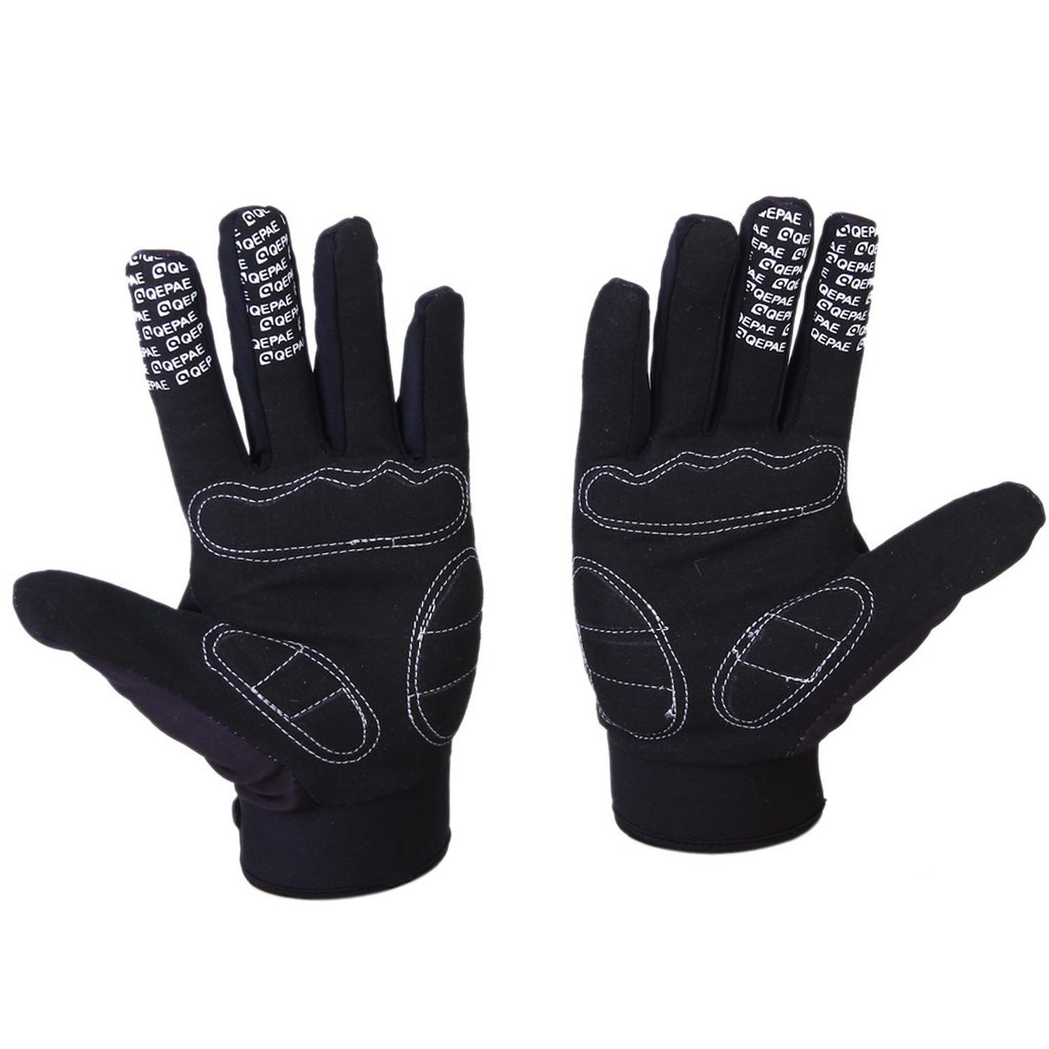 Qepae Bicycle Gloves Skeleton Pattern Full Finger