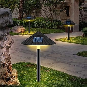 Luces de césped de setas, Luces De Cadena Decorativas De Jardín Solar Exterior, Conjunto De 3 Luces De Estaca Solar Patio Yard Decoración De Arte Césped Adornos (3 Piezas Blanco Cálido): Amazon.es: