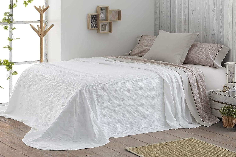 Burrito Blanco Colcha de Verano 142 Tejido Jacquard con un Diseño ...