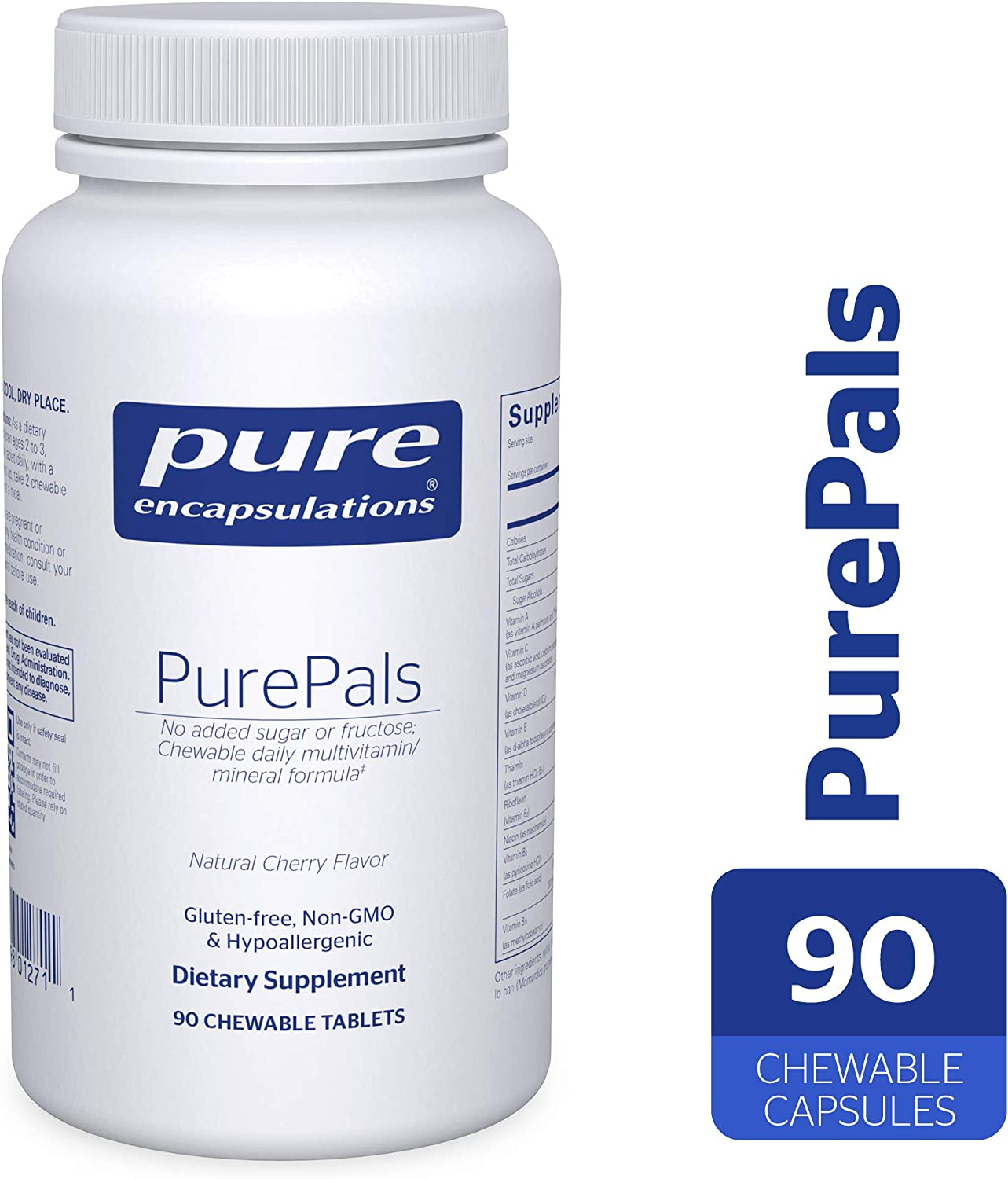 Pure Encapsulations – PurePals – Hypoallergenic Multivitamin Mineral Formula for Cognitive Function, Mood and Immune Support* – 90 Chewable Capsules