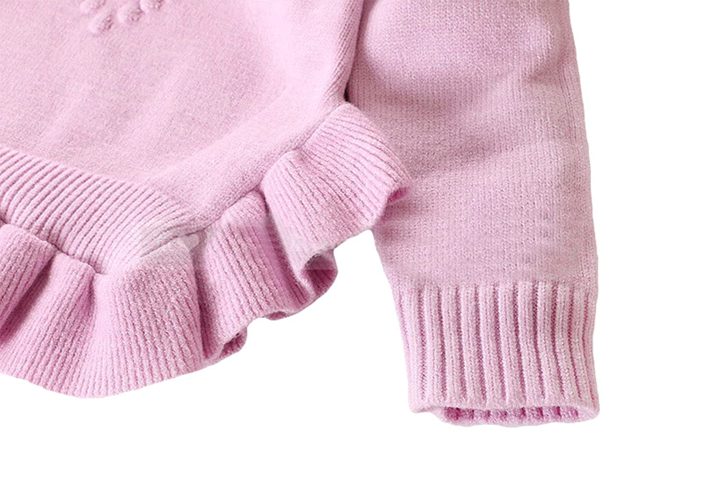 Toddler Baby Girl Cotton-Wool Knit Pullover Sweater 2-7t Kid Sweatshirt